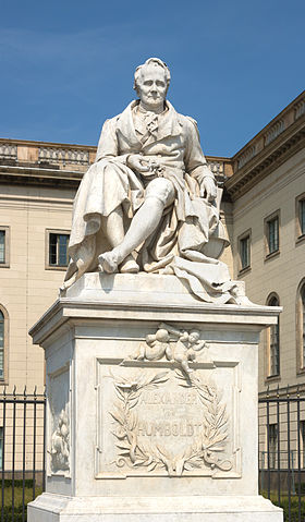 Estatua Alexander von Humboldt. Humboldt Universität Berlin