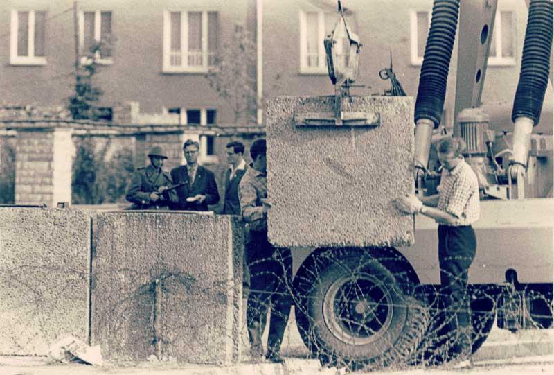construcción Muro de Berlín
